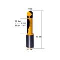 ルータービット パネル パイロットビット 1/2軸 ( 刃径9.5mm ) 【6616】