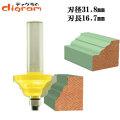 ルーター ビット ダブル ロマン 1/2軸 ( 刃径 31.8mm ) Microtungsten carbide 【dm01204】