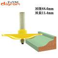 ルーター ビット レイズドパネル オージー (大) 1/2軸 Microtungsten carbide 【dm07202】