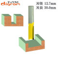 ルーター ビット ストレート 1/2軸 ( 刃径 12.7mm ) Microtungsten carbide 【dm09106】