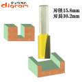 ルーター ビット ブランジ ストレート 1/2軸 ( 刃径 15.8mm ) Microtungsten carbide 【dm09109】