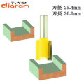 ルーター ビット ストレート 1/2軸 ( 刃径 25.4mm ) Microtungsten carbide 【dm09111】