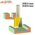 ルーター ビット ブランジ ストレート 1/2軸 ( 刃径 25.4mm ) Microtungsten carbide 【dm09116】