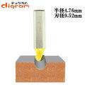 ルーター ビット 丸溝 1/2軸 ( 刃径 9.52mm ) Microtungsten carbide 【dm09305】