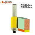 ルーター ビット フラッシュトリム 1/2軸 ( 刃径 19.0mm ) Microtungsten carbide 【dm09403】