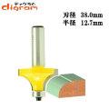 ルーター ビット 丸面 ベアリング12.7mm 1/2軸 ( 半径 12.7mm ) Microtungsten carbide 【dm09605】