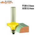 ルーター ビット 丸面 ベアリング12.7mm 1/2軸 ( 半径 9.5mm ) Microtungsten carbide 【dm09607】