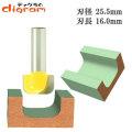 ルーター ビット ディッシュカッター 1/2軸 Microtungsten carbide 【dm10002】