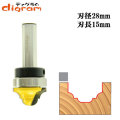 ルーター ビット トップベアリング クラッシクカーブ & ビートグローブ 1/2軸 ( 刃径 28mm ) Microtungsten carbide 【dm11004】