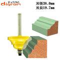 トリマー ビット ダブル ロマン 1/4軸 ( 刃径 38mm ) Microtungsten carbide 【dm12605】