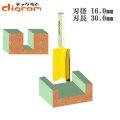 トリマー ビット ストレート 1/4軸 ( 刃径 16.0mm ) Microtungsten carbide 【dm12706】
