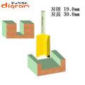 トリマー ビット ストレート 1/4軸 ( 刃径 19.0mm ) Microtungsten carbide 【dm12707】