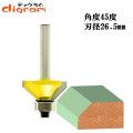トリマー ビット 角面 45度 1/4軸 ( 刃径 26.5mm ) Microtungsten carbide 【dm12716】