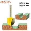 トリマー ビット 丸溝 1/4軸 ( 刃径 19mm ) Microtungsten carbide 【dm12730】