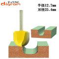 トリマー ビット 丸溝 1/4軸 ( 刃径 25.4mm ) Microtungsten carbide 【dm12731】
