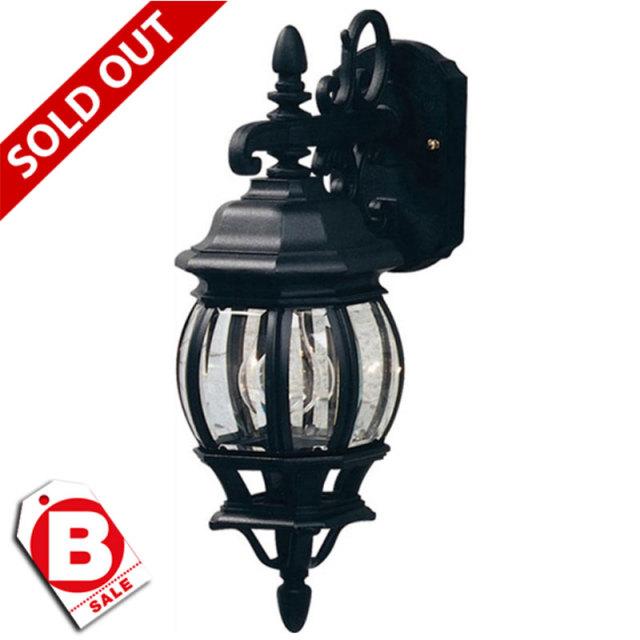 B級品ヨーロピアンクラシコ/黒1灯アウトドアライト・玄関照明/ダウン型