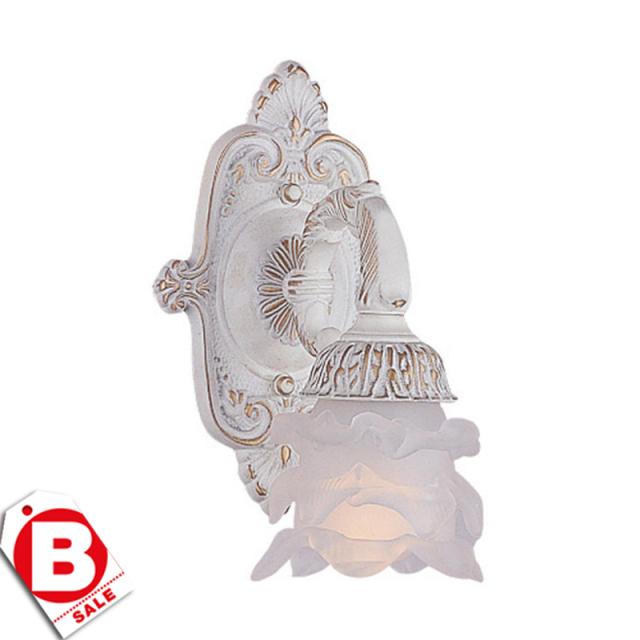 B級品アンティークホワイト1灯ウォールライト/ブラケット