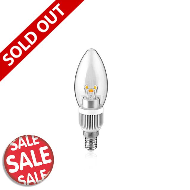 E12口金/LED型シャンデリア球|電球色・調光可能