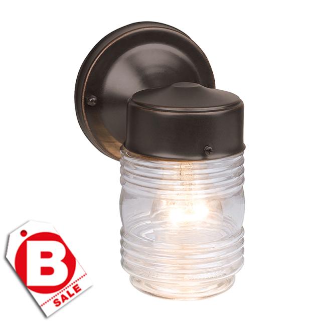 B級品ジェリージャー1灯アウトドアライト・玄関照明/ダウン型/ORB