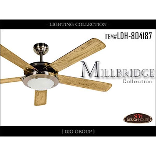 セール品!!ミルブリッジ2灯シーリングファン・空調照明/照明付き