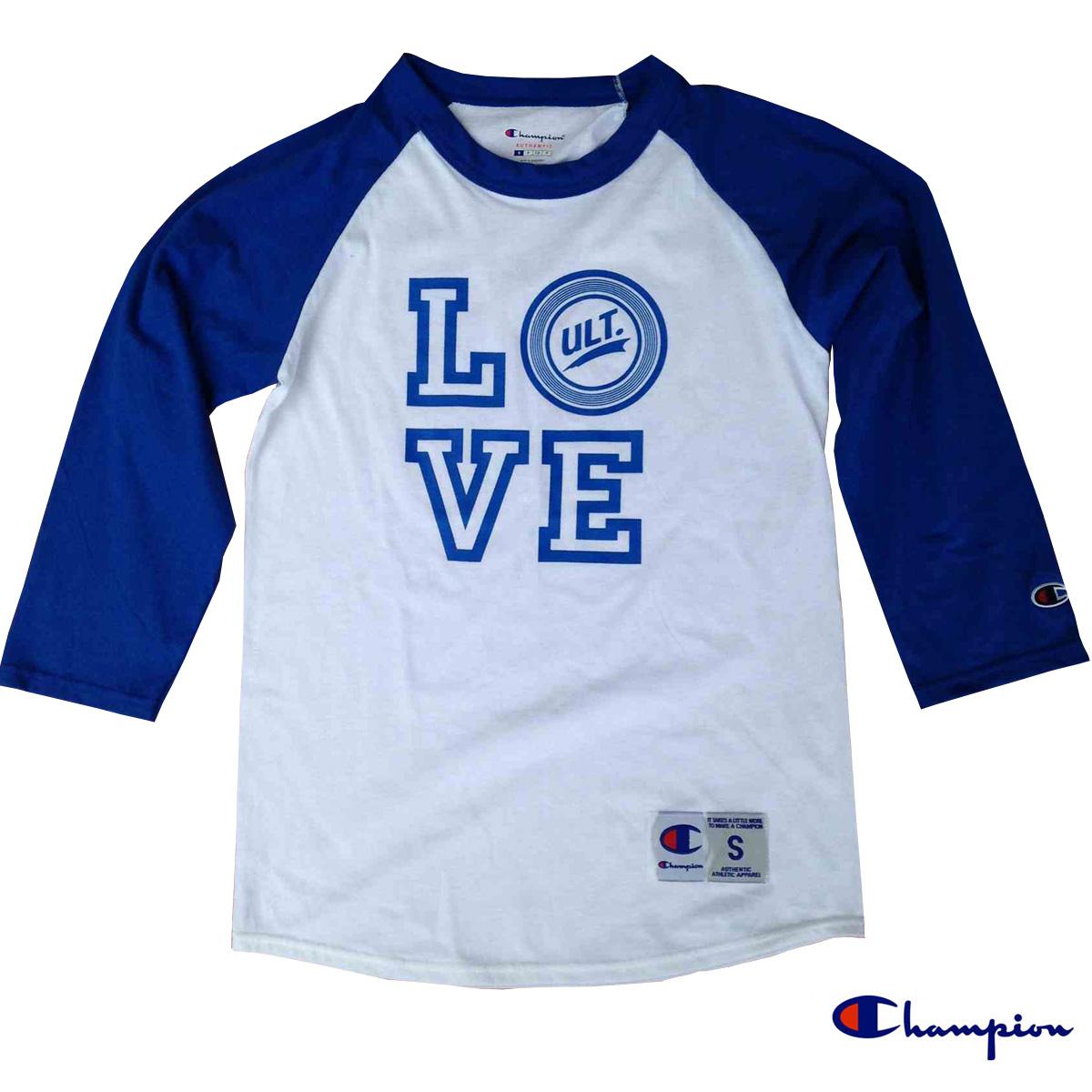 LOVE ULT ベースボールシャツ Champion製