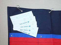 ディスクゴルフスコア個人カード
