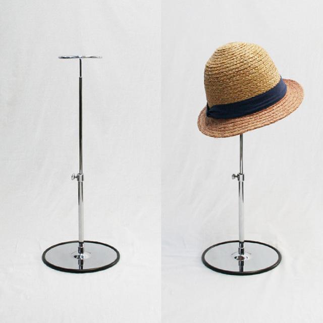 帽子スタンド 1点掛け スチール製 クローム [K1423-5S]
