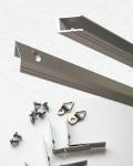 X型アルミフレームシルバー部品セット  【オーダーサイズ タテ+ヨコ1901から2000mm】