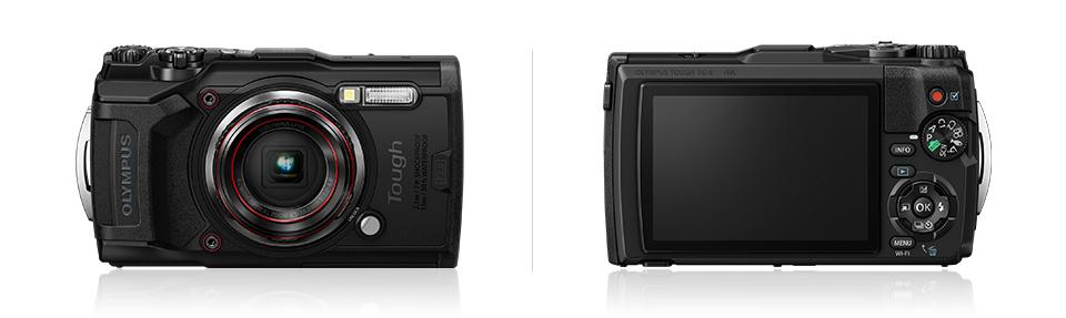 OLYMPUS デジタルカメラ Tough TG-6  1200万画素CMOS F2.0 15m 防水 100kgf耐荷重 GPS 内蔵Wi-Fi ブラック レッド