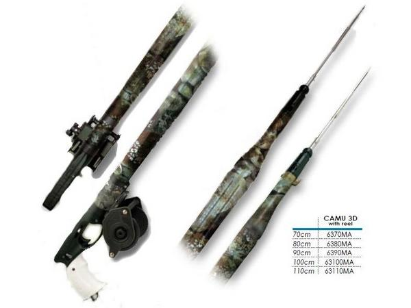 OMER AIRBALETE 100 CAMU 3D(オマー エアーバレット) 水中銃 スピアガン リール装備 本体全長:105cm [63100MA]