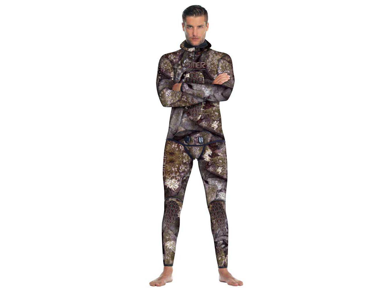 OMER HOLO STONE(オマー ホロストーン) 7mm フード股掛け付きジャケット+HWパンツ ウェットスーツ ※要在庫確認