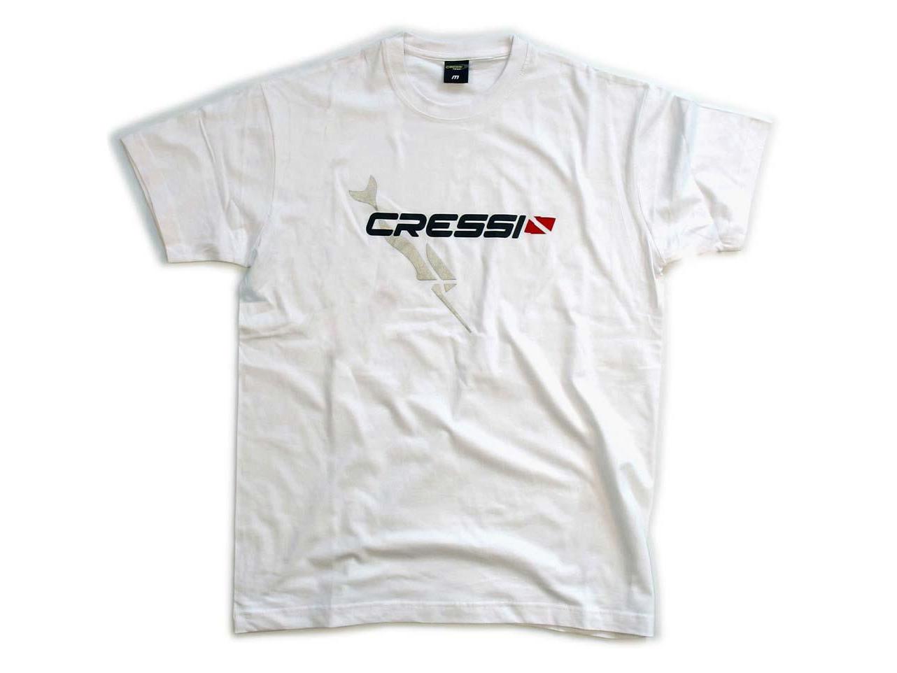 Cressi(クレッシー) Tシャツ 白 「team CRESSI」
