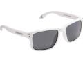 Cressi Blaze Sportサングラス(偏光疎水性レンズ付き)ハードケース、マットホワイト/レンズスモークグレー、ワンサイズ