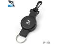 IST PROLINE(アイエスティ プロライン) フック付きリトラクター ダイビング用 ランヤード リトラクタブルストラップ [SP-25A] ブラック ダイビング シュノーケリング サーフィン マリンスポーツ