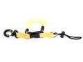 スナッピーコイル コイルランヤード スナップコード スイベルフック付 水中ライト カメラホルダー イエロー 定番ベストセラー商品