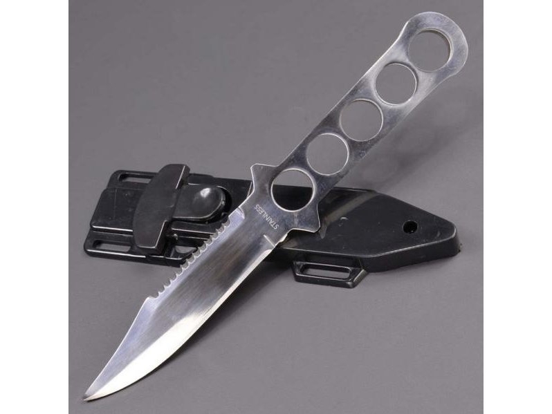 人気商品!ステンレス ダイビングナイフ シングルエッジ