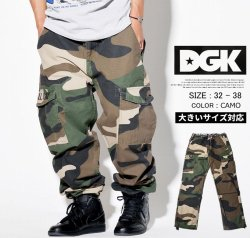 DGK Men/'S O.G.S Cargo Snow Camo Pants Gray Clothing Apparel Military
