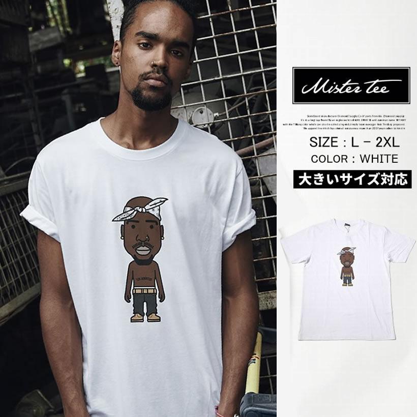 MISTER TEE ミスターティー 半袖Tシャツ メンズ 大きいサイズ 2PAC LA Sketch Tee MT545 B系 ヒップホップ アーティスト ファッション MTTT012