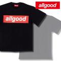 allgood【オールグッド】 S/S Tシャツ(半袖TEE) カラー:ブラック(黒) [BOXロゴ]【B系/HIPHOP】