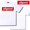 allgood【オールグッド】 S/S Tシャツ(半袖TEE) カラー:ホワイト(白) [BOXロゴ]【B系/HIPHOP】 b系 ストリート系 ファッション 服 通販 激安 セール SALE