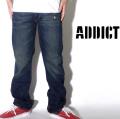 ADDICT【アディクト】デニムパンツ M11J06A aid007-014 ★HIPHOP/スケーター/B系アイテム