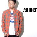 ADDICT(アディクト)チェックシャツ(長袖)/M10906/全3色 b系 ストリート系 ファッション 服 通販 激安 セール SALE