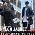 BLACK HORSE ブラックホース ナイロンコーチジャケット モッズコート メンズ 大きいサイズ フィッシュテール NEW  YORK ストリート系 hiphop ヒップホップ ファッション BHJT036