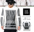 BLACK KAVIAR (ブラックキャビア) 長袖Tシャツ メンズ BKTT024