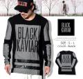 BLACK KAVIAR (ブラックキャビア) 長袖Tシャツ メンズ BKTT025 b系 ストリート系 ファッション 服 通販 激安 セール SALE