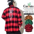 Carrots キャロッツ フランネルシャツ メンズ ロゴ スケーター ストリート ファッション CFA18-SLF 服 通販