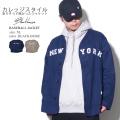 ベースボールジャケット メンズ シャツ 秋 冬 カジュアル ゆったり 野球 NY ストリート系 ヒップホップ 韓国系 ファッション BLACK HORSE ブラックホース 服 通販