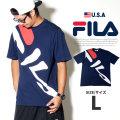 FILA フィラ Tシャツ メンズ 半袖 ロゴ ストリート系 ヒップホップ ファッション 通販 LM181T11 FLTT012