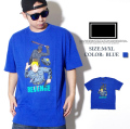 FRESHJIVE【フレッシュジャイブ】 S/S Tシャツ STYLE:1160149 カラー:ブルー【HIPHOP/B系ブランド】 b系 ストリート系 ファッション 服 通販 激安 セール SALE