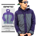 GRIND(グラインド)マウンテンパーカー  パープル grp011-011 【HIPHOP/B系ブランド】